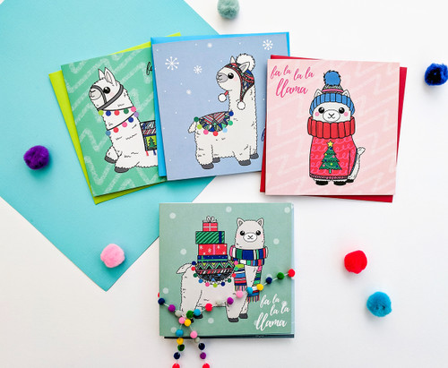 Christmas Cards Pack Llama Cards
