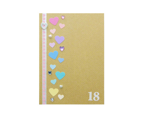 Rainbow Hearts Personalised 18th Birthday Card