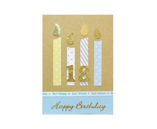 Handmade 18th Birthday Candles Card