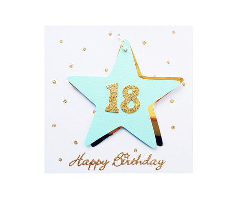 Handmade 18th Birthday Star Card