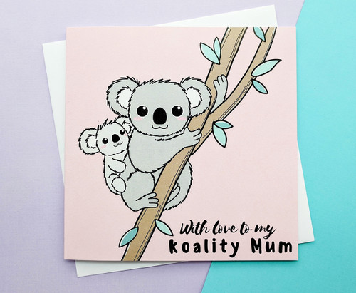 Cuddling Koalas Mothers Day Card