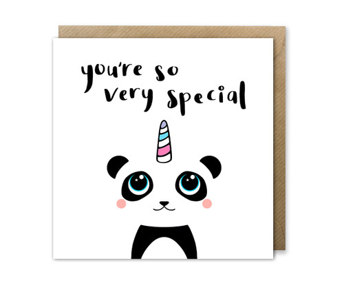 Unicorn Panda Birthday Card