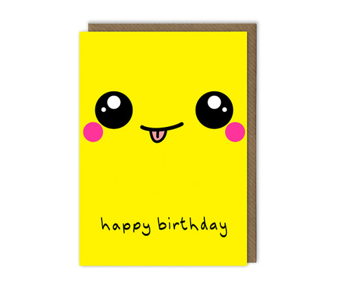 Smiley Face Birthday Card