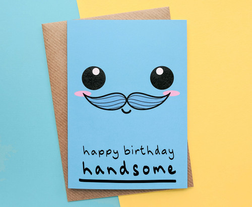 Boyfriend Birthday Card Smiley Face
