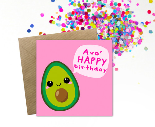 Avocado Pun Birthday Card Cute