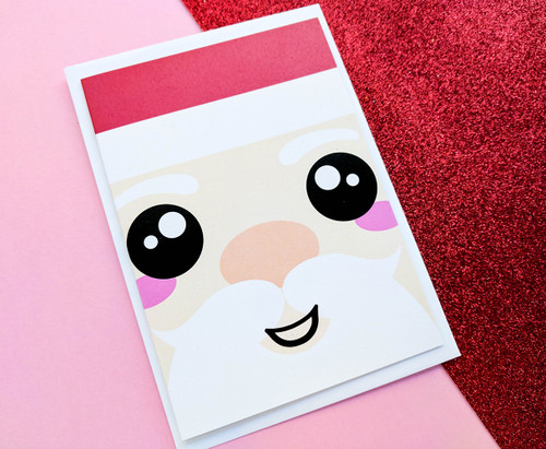 Cute Santa Card Kawaii Christmas