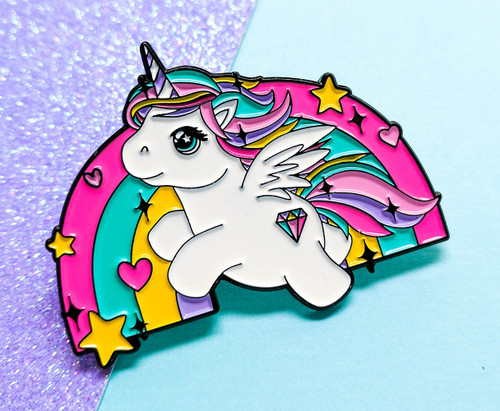 Flying Unicorn Pin - Gift For Her