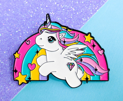 Rainbow Unicorn Enamel Pin Badge