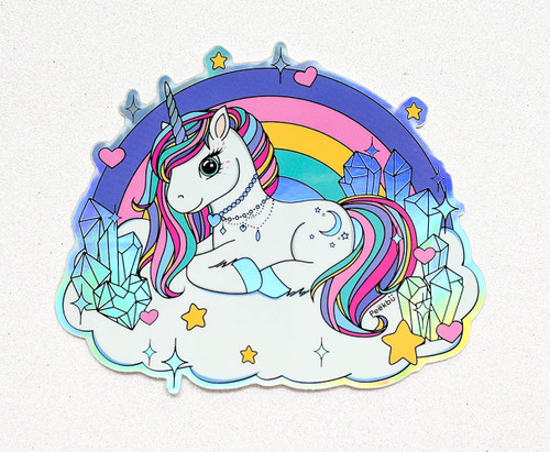 Holographic Rainbow Unicorn Sticker