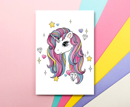 Rainbow Unicorn A6 Notebook - Unicorn Stationery