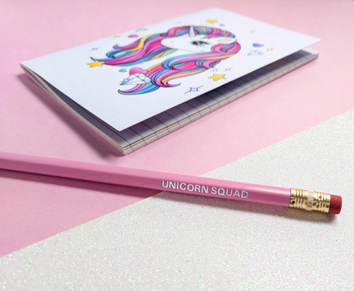 Magical Unicorn Stationery Set - Unicorn Notebook, Unicorn Squad Pencil