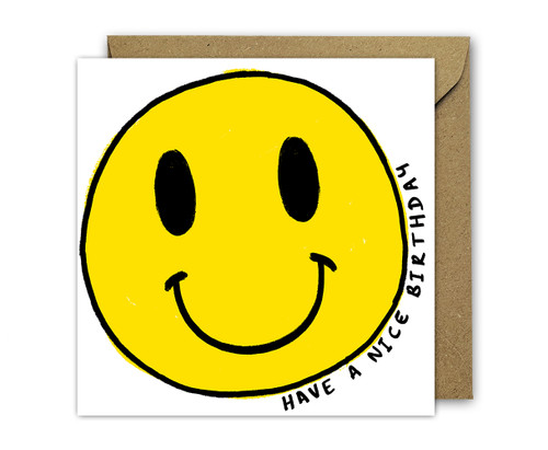 Smiley Face Birthday Card 90s