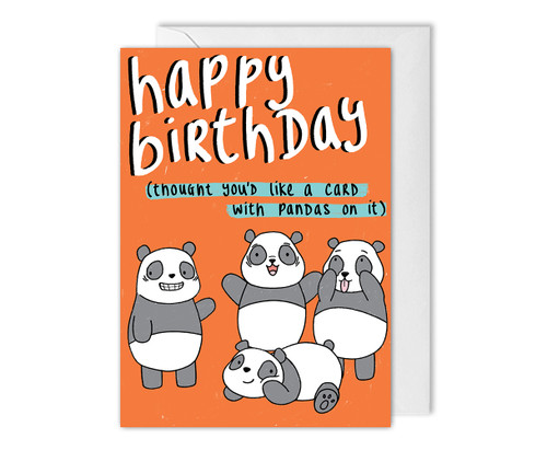 Pandas Funny Birthday Card