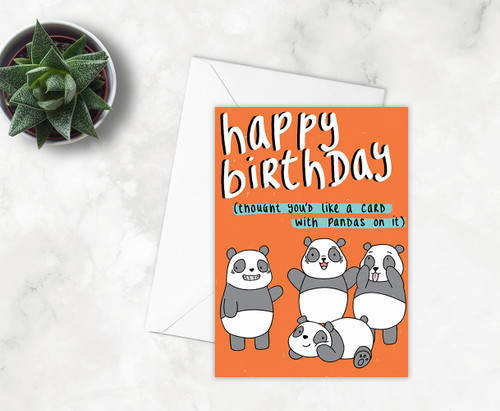 Funny Pandas Birthday Card