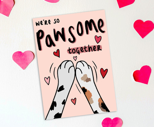 Punny Cats Love Card Anniversary