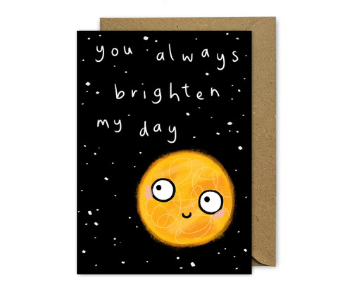 Punny Love Card Sun Brighten My Day