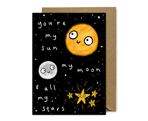My Sun, Moon and Stars Card