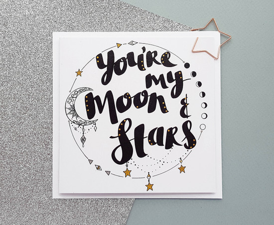 Moon and Stars Anniversary Card