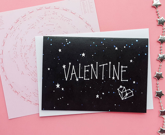 Constellation VALENTINE Card