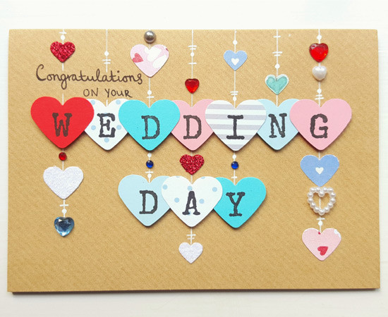 WEDDING DAY Hearts Card