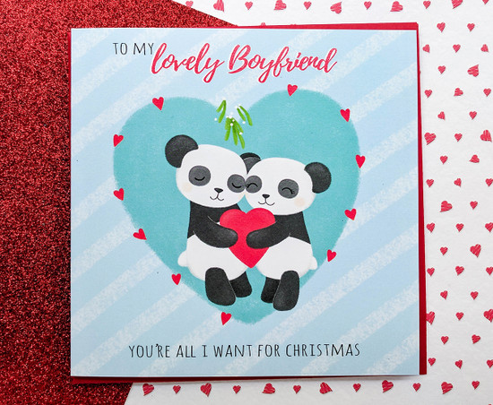 Boyfriend Christmas Card Romantic
