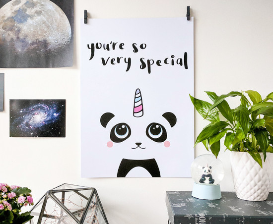 Pandicorn print - inspirational wall art