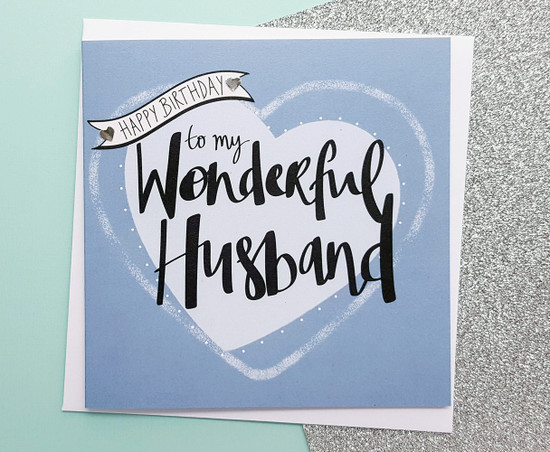 Hubby Birthday Card Romantic