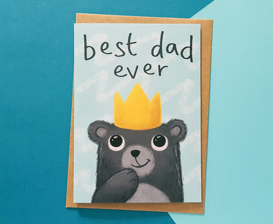 Bear Birthday Card For Dad