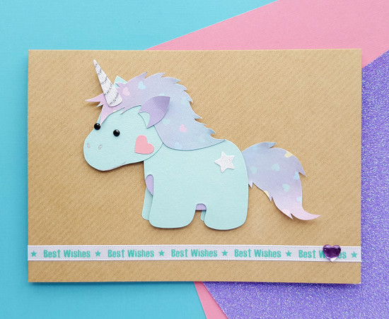 Handmade Unicorn Birthday Card