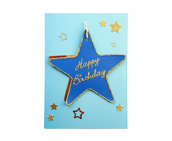 Handmade Stars Birthday Card