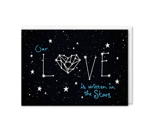 Space Anniversary Card Love Constellation