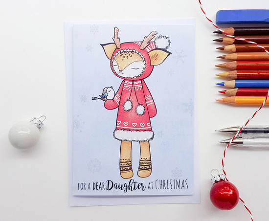 EVEVI Deer - DAUGHTER Christmas Card