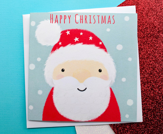 Santa Claus Christmas Card Hand Drawn