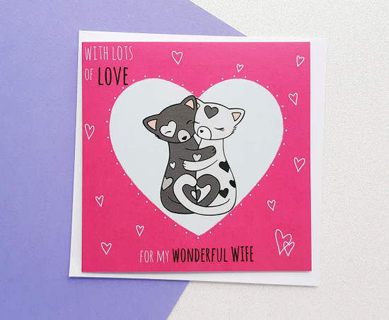 Romantic Anniversary Card For Wife
