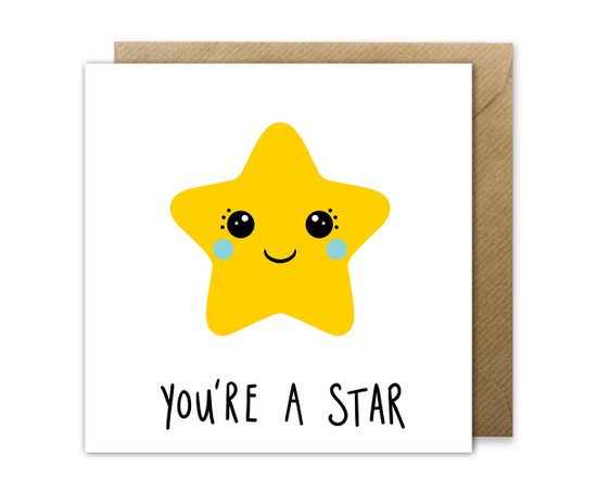 You're A Star Card Thank You / Success