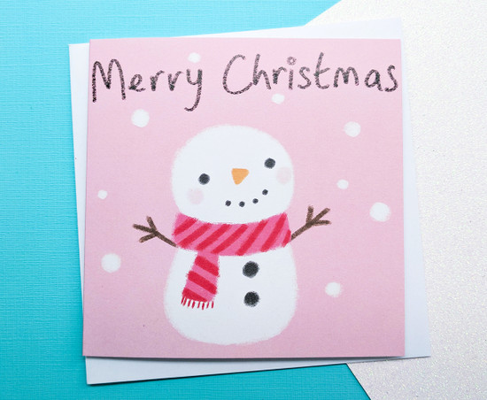 Cute Christmas Card Snowman