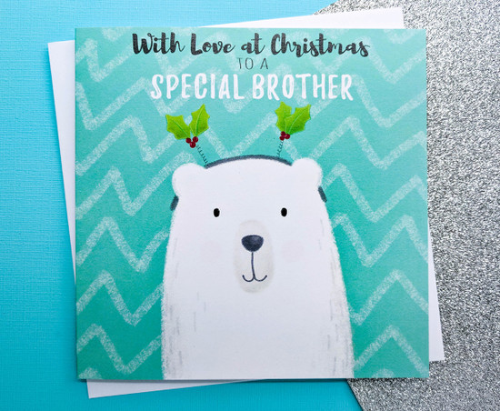 Brother Christmas Card Polar Bear