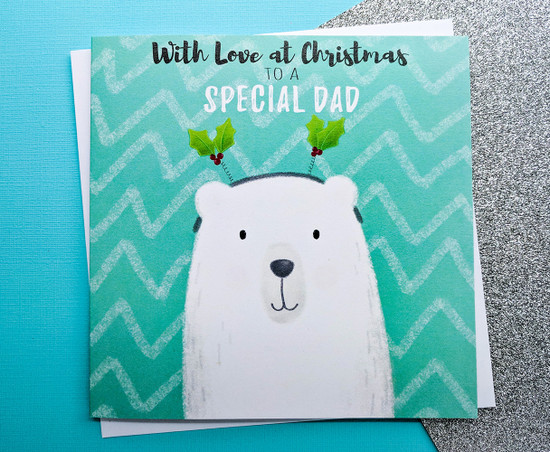 Dad Christmas Card Polar Bear