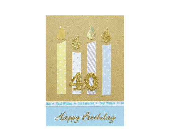 Handmade 40th Birthday Candles Card