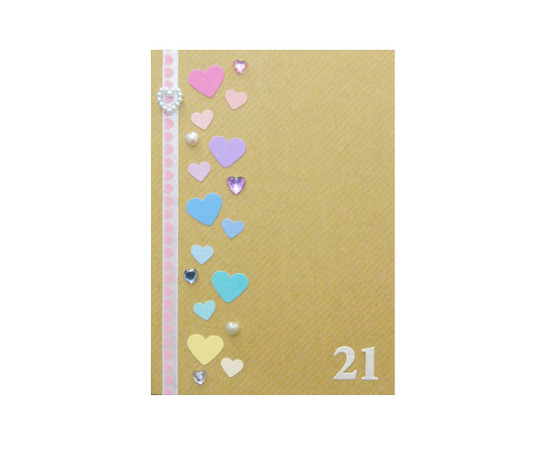 Rainbow Hearts Personalised 21st Birthday Card Handmade