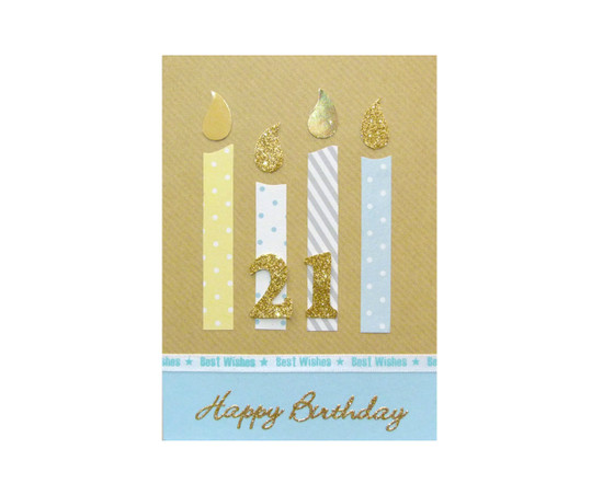Handmade 21st Birthday Candles Card