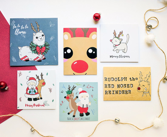 Rudolph Reindeer Christmas Cards Pack