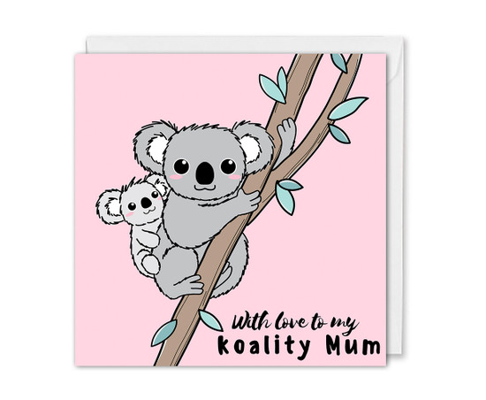 Mother's Day Card Cuddling Koalas