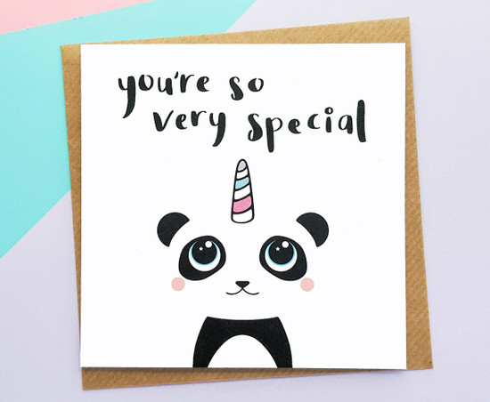 Pandicorn Birthday Card