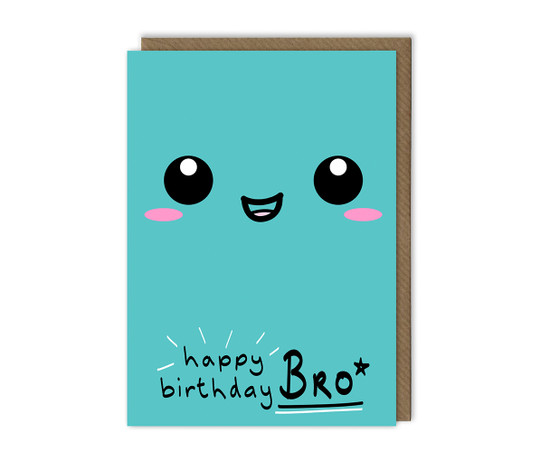 Brother Birthday Card Smiley Face