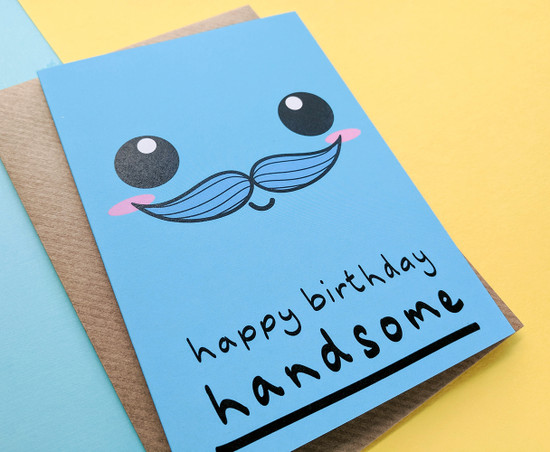Smiley Face Husband Birthday Card Cute