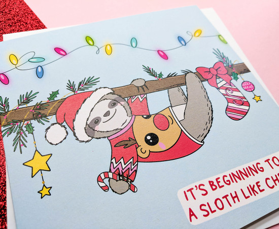 Sloth Pun Christmas Card