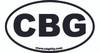 1pc. 3 x 5-inch Vinyl CBG Oval Bumper Sticker