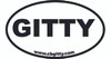 1pc. 3 x 5-inch Vinyl GITTY Oval Bumper Sticker