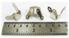 8pc. Small Nickel Trunk Corners with Screws